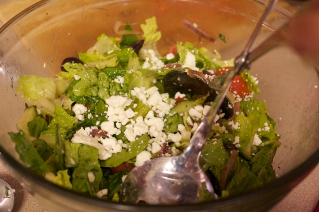 My addition... FETA of course! 1/2 cup for the full recipe or adjust this amount to 1/4 cup if making a half recipe.