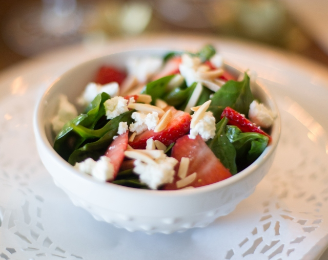 Strawberry Spinach Salad for Two via applestoziti.com