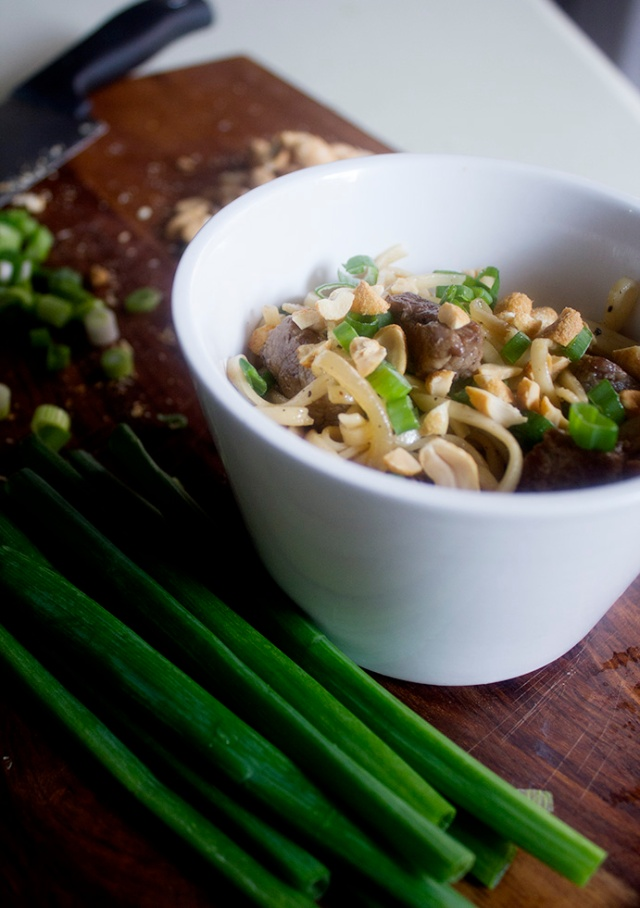 Udon Noodles with Sweet & Savory Beef via applestoziti.com