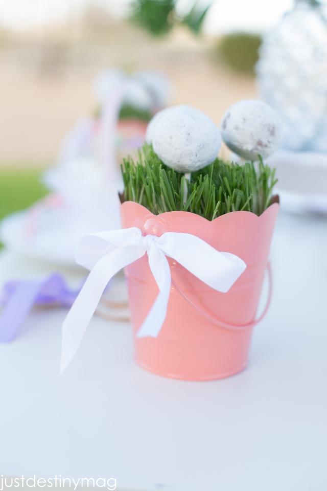 Childrens Easter Party Ideas | Doughnut Pops | ApplestoZiti.com