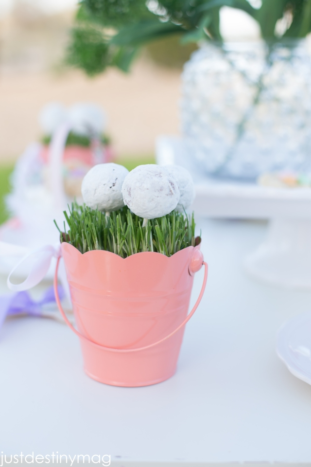 Childrens Easter Party Ideas | Doughnut Pops | ApplestoZiti.com