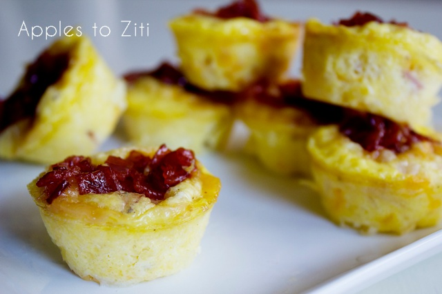 Mini Ham & Cheese Frittatas with Candied Bacon | ApplestoZiti.com