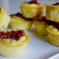 Mini Ham & Cheese Frittatas with Candied Bacon