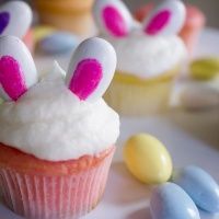 Mini Pastel Bunny Ear Cupcakes